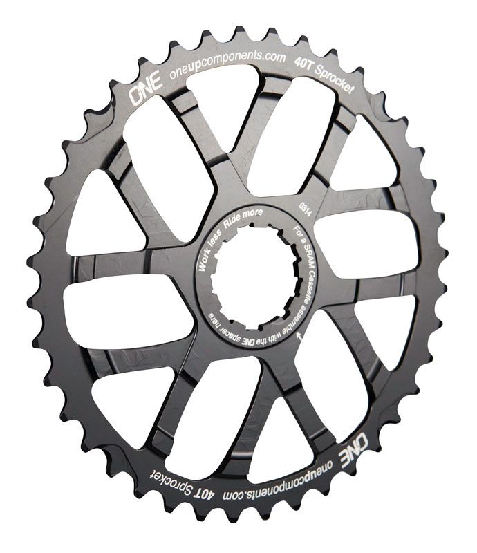 OneUp Components 40T Sprocket Black Iso1